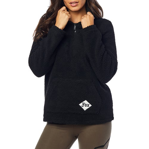 Fox Racing Road Raider Sherpa Womens Pullover Hoody - Blk