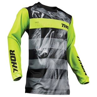 Thor Pulse Big Kat Motocross Jerseys - Black