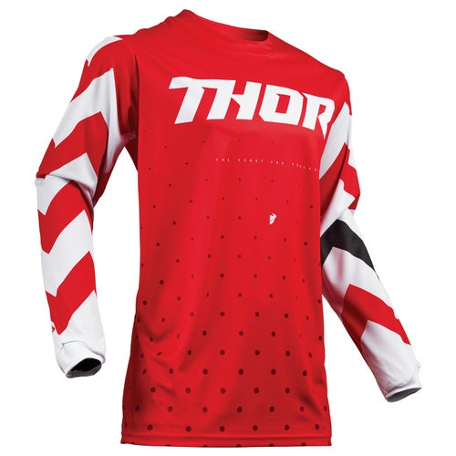 Thor Pulse Stunner Motocross Jerseys - Red