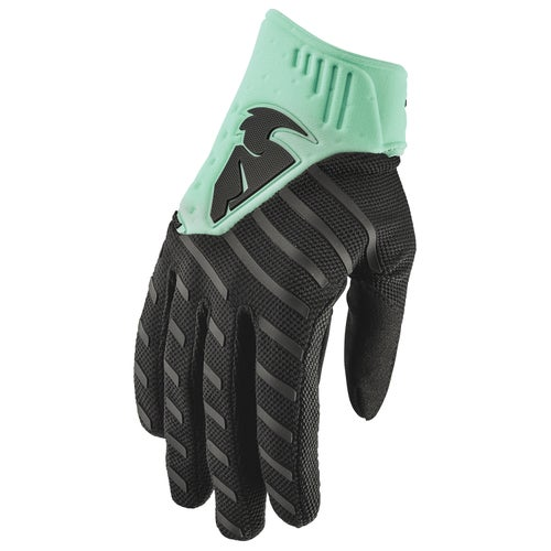 Thor Rebound Motocross Gloves - Black Green