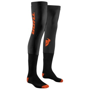 Thor Compression S18 Knee Brace Socks - Black Red