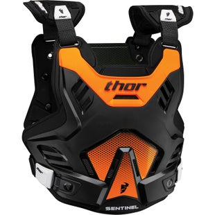Thor Sentinel Gp Protector , Chest Protection - Black Orange