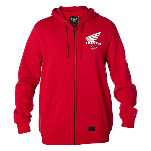 Fox Racing Honda Fleece Hoody met Rits - Drk Rd