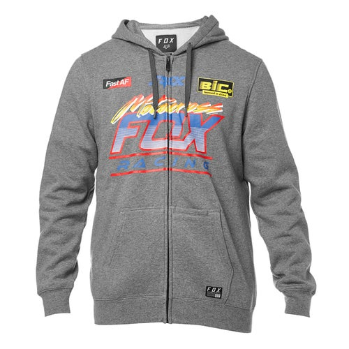 Fox Racing Jetskee Fleece Zip Hoody - Htr Graph