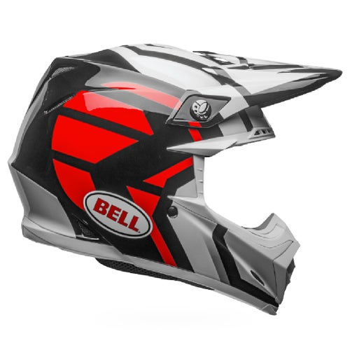 Bell Moto-9 Mips District Helmet Motocross Helmet - White Black Red