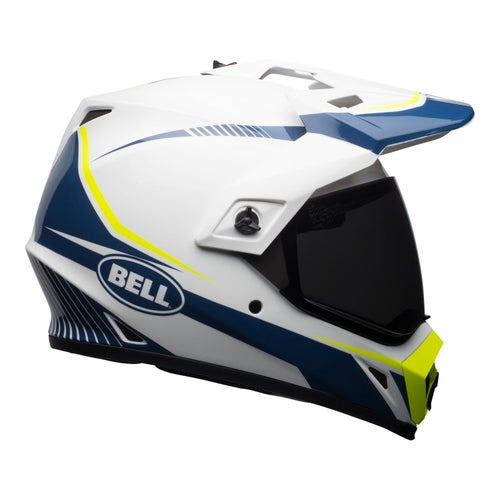Bell Mx-9 Mips Torch Adventure Helmet - White Blue Yellow