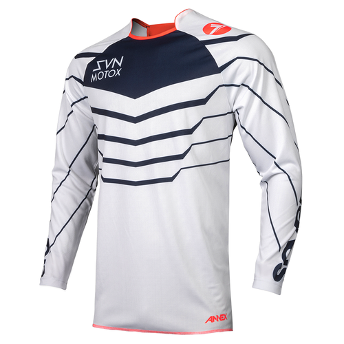 Seven 19.1 Annex Youth Exo Motocross Jerseys - Coral Navy