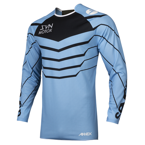 Seven 19.1 Annex Exo Motocross Jerseys - Blue Black