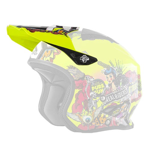 Trials Helmet O Neal Slat Crank MX Motocross and Enduro Helmet - Hi Viz
