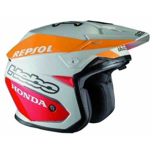 Trials Helmet Hebo Zone 5 Team 2 Repsol Montesa Polycarb W Visor Medium - rials Helmet Zone 5 Team 2 Repsol Montesa Polycarb W/