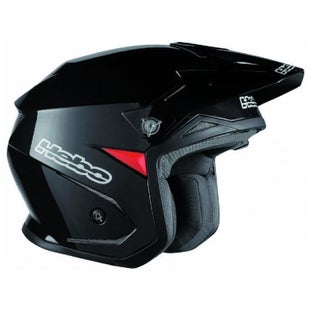 Trials Helmet Hebo Zone 5 Mono Black Polycarb W Visor Medium - rials Helmet Zone 5 Mono Black Polycarb W/ Visor Medium