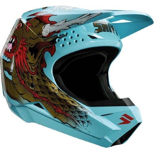 Shift Whit3 Caballero X Label MX Motocross and Enduro Helmet MX Hjelm - Aqua
