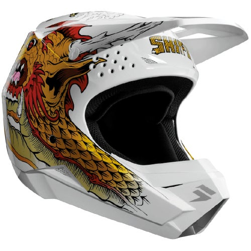 Shift Whit3 Caballero X Label MX Motocross and Enduro Helmet MX Hjelm - White