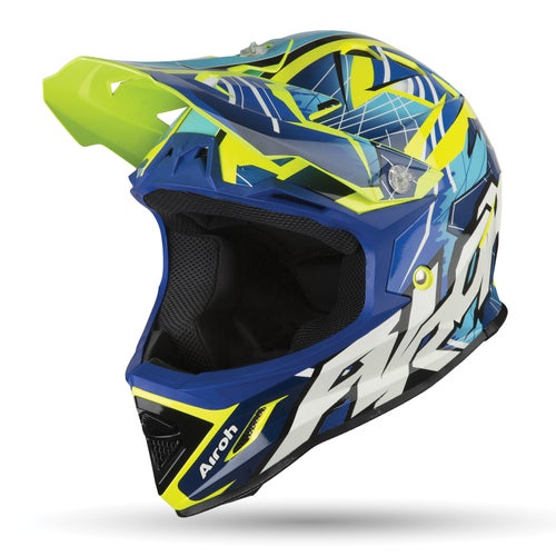 Airoh Archer Youth Motocross Helmet - Bump Blue