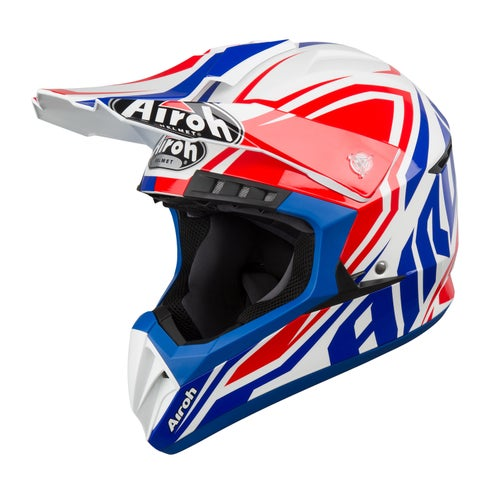 Kask MX Airoh Switch - Impact Blue Gloss