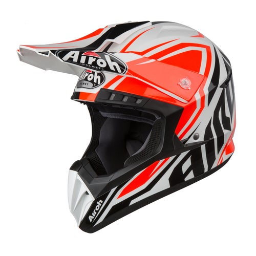 Kask MX Airoh Switch - Impact Orange Gloss