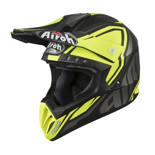 Kask MX Airoh Switch - Impact Yellow Matt