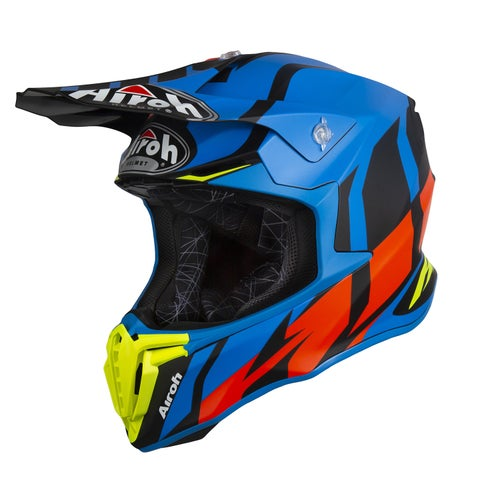Airoh Twist MX Helm - Great Blue Matt