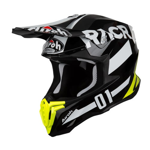 Airoh Twist Motocross Helmet - Racr Black White