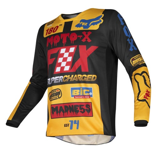 Fox Racing 180 CzarMX Enduro and Boys Motocross Jerseys - Black/Yellow