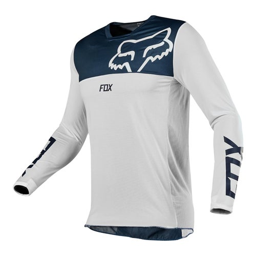 Fox Racing Airline Motocross Jerseys - Navy/White