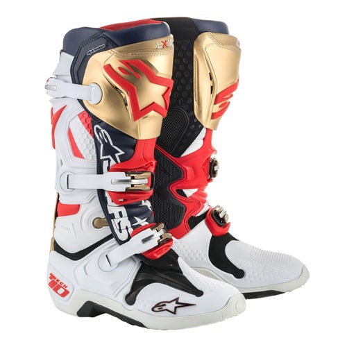 Alpinestars Tech 10 Limited Edition Liberty Motocross Boots - Red/White/Blue