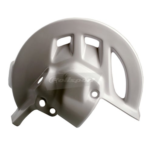 Brake Disc Guard Polisport Plastics Front Disc Guard HONDA CRF 250R 04 - 09 White