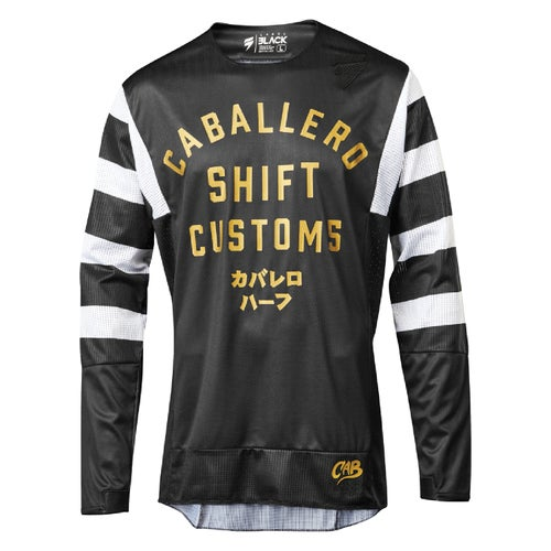 Shift 3lack Caballero X Label Strike MX Motocross and Enduro Jer Motocross Jerseys - Black