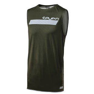 Camisola MX Seven 182 Zero Neo YOUTH Motocross Over Vest Jersey - Olive White