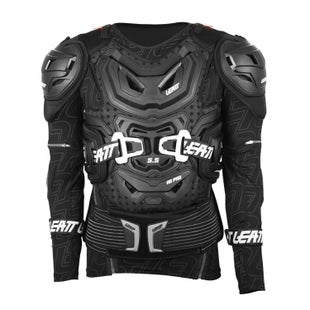 Protection pour Torse Leatt 5.5 Body Protection MX Motocross and Enduro Jacket - Black