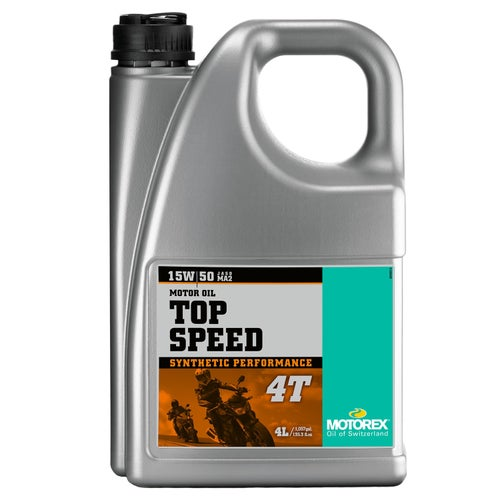 Motorex Top Speed Synth 4T 15/50 4 Litre MA2 Engine Oil - Clear