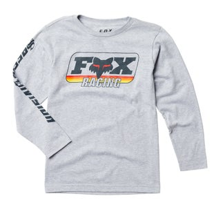 Fox Racing Youth Throwback Long Sleeve T-Shirt - Light Heather Grey