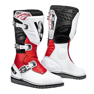 Sidi Trial Zero 1 Trials Boots - White Red