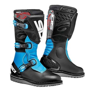 Sidi Trial Zero 1 Trials Boots - Black Light blue