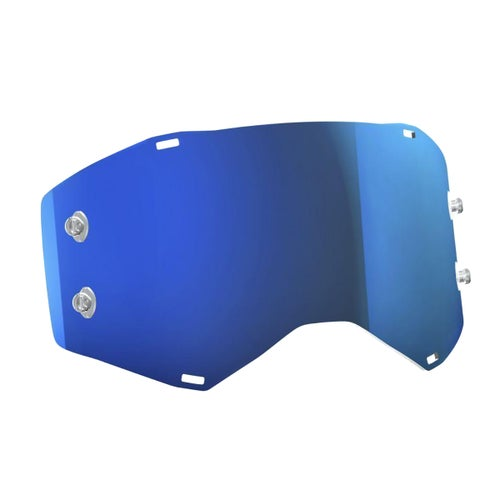 Scott Sports Prospect Motocross Goggle Lense - Electric Blue Chrome