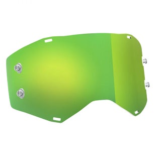 Scott Sports Prospect Motocross Goggle Lense - Green Chrome