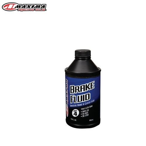 Maxima Brake and Clutch Fluid Dot 4 Universal Standard Formula 355ml Brake Fluid - Clear