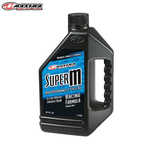 Maxima 2T Super M Ester Synthetic SAE 30w 1 Litre Engine Oil - Clear