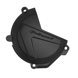 Polisport Plastics Clutch Cover Protector Husqvarna EXC250 , Ignition Protector - Black