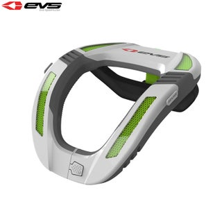 EVS YOUTH R4K Koroyd Neck Protector Boys Neck Brace - White Green