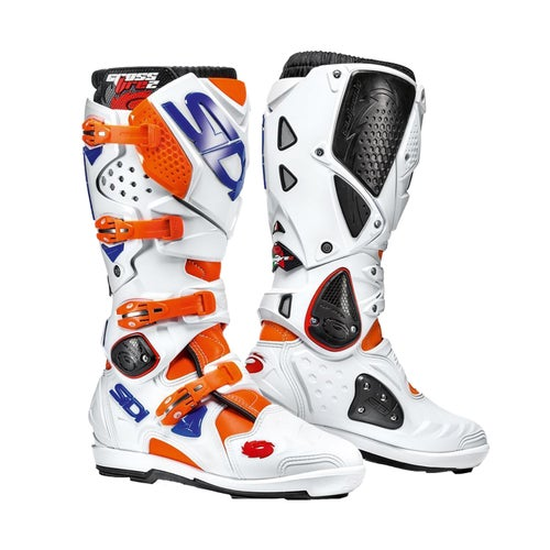 Bottes MX Sidi Crossfire 2 SRS - Orange Flou White