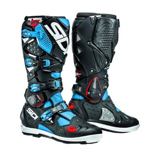 Buty MX Sidi Crossfire 2 SRS - Black Cyan Blue