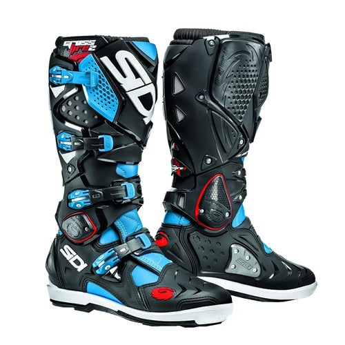 Bottes MX Sidi Crossfire 2 SRS - Black Cyan Blue
