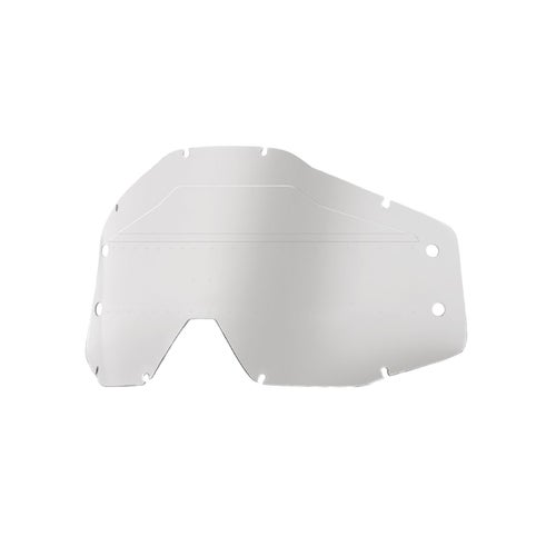 100 Percent Accuri Forecast Lens Sonic Bumps - W/mud Visor YOUTH Motocross Goggle Lense - Clear