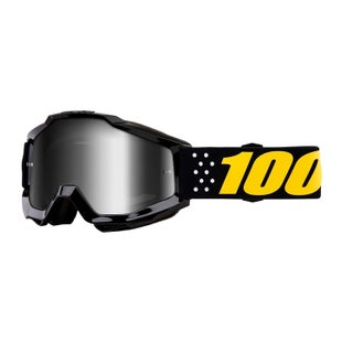 100 Percent Accuri YOUTH Motocross Goggles - Pistol ~ Mirror Silver Lens