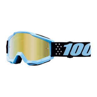 100 Percent Accuri YOUTH Motocross Goggles - Taichi ~ Mirror Gold Lens