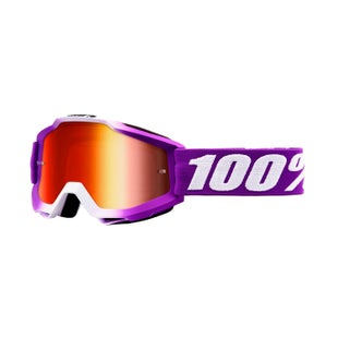 100 Percent Accuri YOUTH Motocross Goggles - Framboise ~ Mirror Red Lens