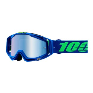 100 Percent Racecraft Abyss Motocross Goggles - Dreamflow ~ Mirror Blue Lens