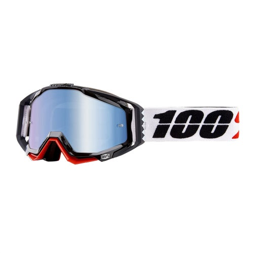 100 Percent Racecraft Motocross Goggles - Marigot ~ Mirror Blue Lens