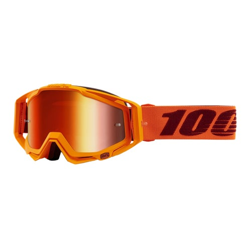 100 Percent Racecraft Motocross Goggles - Menlo ~ Mirror Red Lens